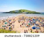 tourists sunbathe in front of...   Shutterstock . vector #738821209