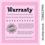 pink vintage warranty template. ...   Shutterstock .eps vector #738823990