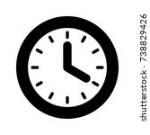 clock icon flat style isolated... | Shutterstock .eps vector #738829426
