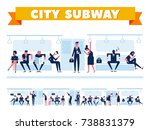 city public transport.... | Shutterstock .eps vector #738831379