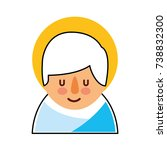 cartoon cute baby jesus christ... | Shutterstock .eps vector #738832300