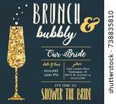 bridal shower invitation | Shutterstock . vector #738835810