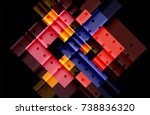 colorful triangles and arrows... | Shutterstock .eps vector #738836320