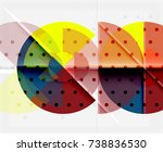 circle elements on black... | Shutterstock .eps vector #738836530