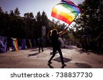 people attend a gay pride event | Shutterstock . vector #738837730