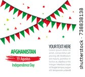 indepence day of afghanistan... | Shutterstock .eps vector #738838138