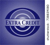 extra credit with jean texture | Shutterstock .eps vector #738839080