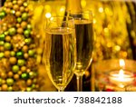 champagne celebration  happy... | Shutterstock . vector #738842188