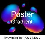 abstract gradient poster | Shutterstock .eps vector #738842380