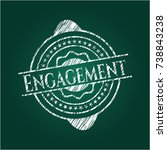 engagement with chalkboard... | Shutterstock .eps vector #738843238
