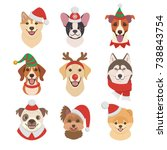 Christmas Dogs Faces Collectio...