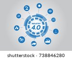 icon of industry 4.0 concept ... | Shutterstock .eps vector #738846280