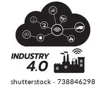 icon of industry 4.0 concept ... | Shutterstock .eps vector #738846298