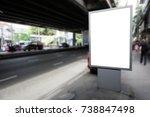 billboard blank on road with...   Shutterstock . vector #738847498