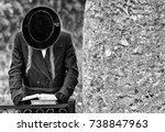 orthodox jewish pilgrims prays  ... | Shutterstock . vector #738847963