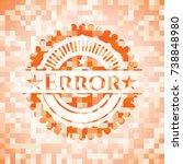 error abstract orange mosaic... | Shutterstock .eps vector #738848980