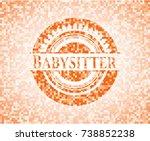 babysitter abstract orange... | Shutterstock .eps vector #738852238