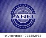 panel denim background | Shutterstock .eps vector #738852988