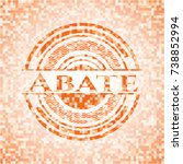 abate abstract orange mosaic... | Shutterstock .eps vector #738852994