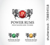 this is a power logo used for... | Shutterstock .eps vector #738854518