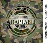adaptable on camouflage pattern | Shutterstock .eps vector #738854788