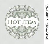 green passport money style... | Shutterstock .eps vector #738854968