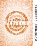 perfect abstract emblem  orange ... | Shutterstock .eps vector #738855958
