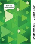 expanding triangles | Shutterstock .eps vector #738856234