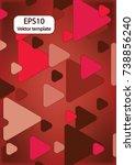 expanding triangles | Shutterstock .eps vector #738856240
