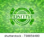 positive green emblem. mosaic... | Shutterstock .eps vector #738856480