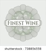 green linear rosette with text... | Shutterstock .eps vector #738856558