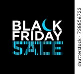 black friday sale line vector... | Shutterstock .eps vector #738856723
