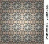 abstract vector geometric... | Shutterstock .eps vector #738858538