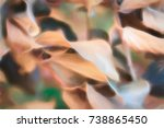 abstract background of autumn... | Shutterstock . vector #738865450