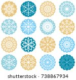 blue and gold vector circle... | Shutterstock .eps vector #738867934
