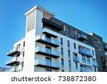modern  luxury apartment... | Shutterstock . vector #738872380