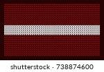 knitted flag. new year's...   Shutterstock .eps vector #738874600