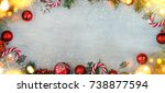 christmas holiday background  | Shutterstock . vector #738877594