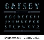 vector of gatsby font and... | Shutterstock .eps vector #738879268