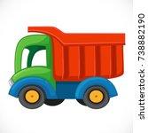 children's toy color plastic... | Shutterstock .eps vector #738882190
