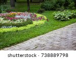 Beautiful View Of Flowerbed In...