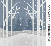 winter background series | Shutterstock .eps vector #738897100