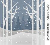 winter background series | Shutterstock .eps vector #738897100