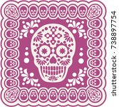 holy death  day of the dead ... | Shutterstock .eps vector #738897754