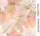 seamless pattern with autumn... | Shutterstock .eps vector #738917794