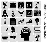 set of 22 business high quality ... | Shutterstock .eps vector #738918100