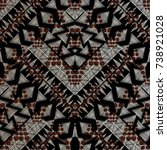 geometric embroidery seamless... | Shutterstock .eps vector #738921028