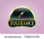 golden emblem or badge with... | Shutterstock .eps vector #738924796