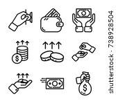 money   finance icon set | Shutterstock .eps vector #738928504