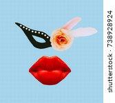 masquerade time. mafia is... | Shutterstock . vector #738928924